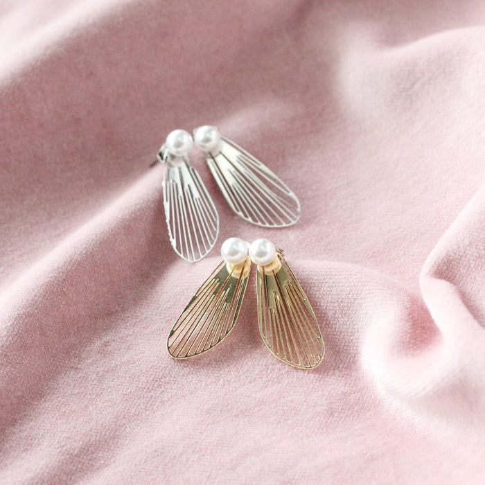 Wing Ear Jackets- Silver