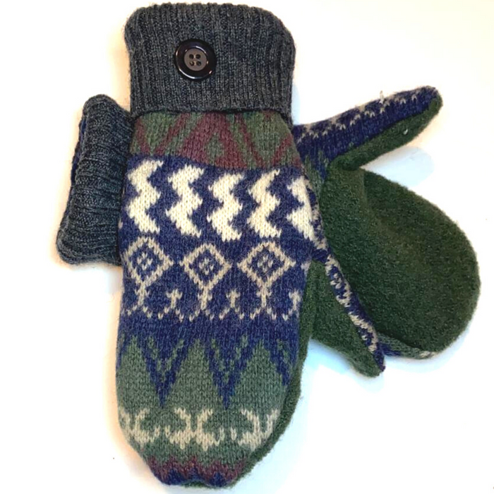 Sweater Mittens-Green