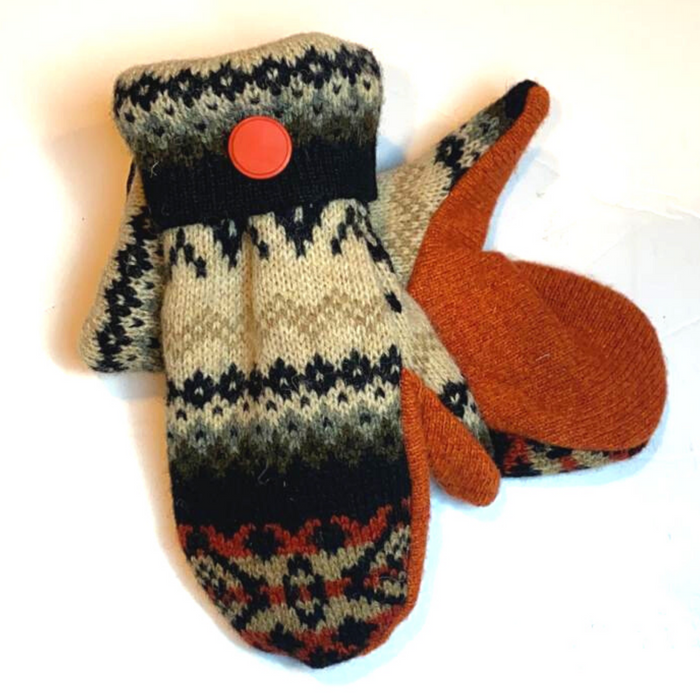 Sweater Mittens-Orange