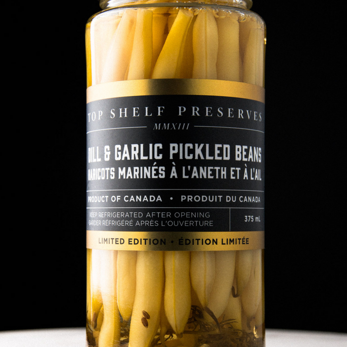 Dill and Garlic Pickled Beans-375 ml