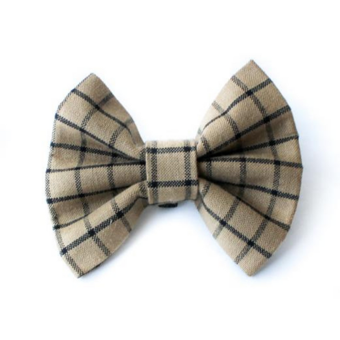 Dog Bow Ties- Mocha and Caramel Plaid