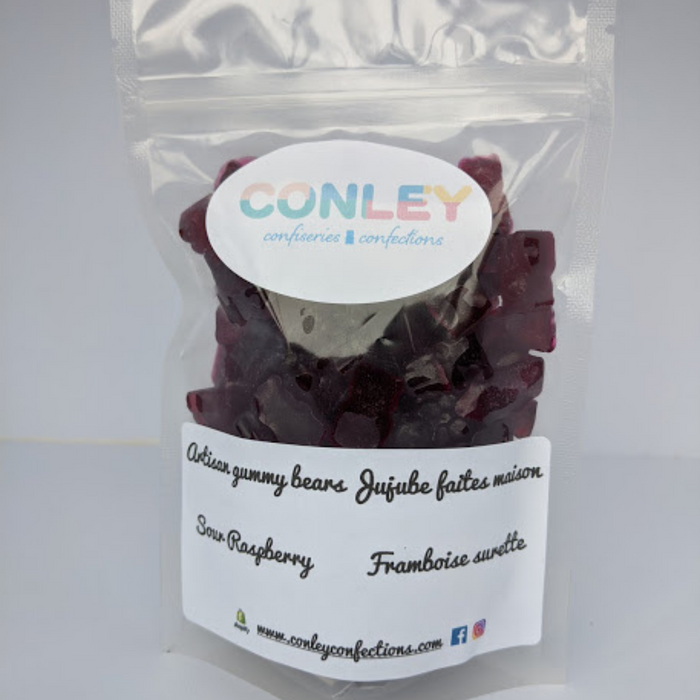 Sour Raspberry Gummy Bears-200g