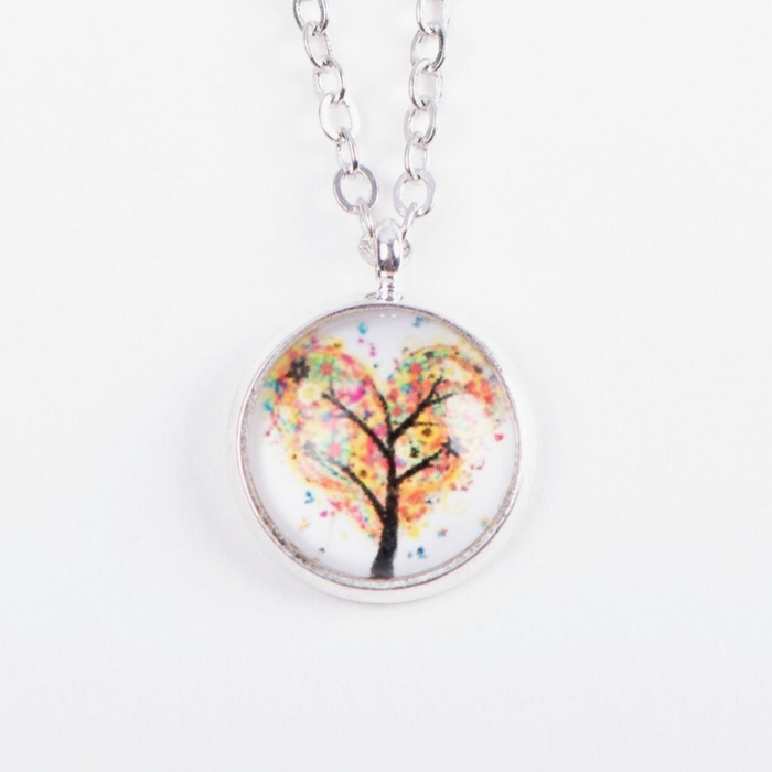 Tree Heart Pendant Necklace