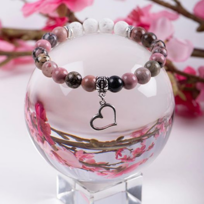 Rhodonite Heart Bracelet