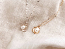 Load image into Gallery viewer, Shell & Pearl Necklace - Sterling Silver