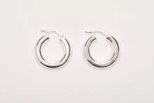 Load image into Gallery viewer, Chunky Hoops - Sterling Silver
