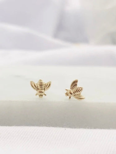 Bumblebee Mini Studs - Gold