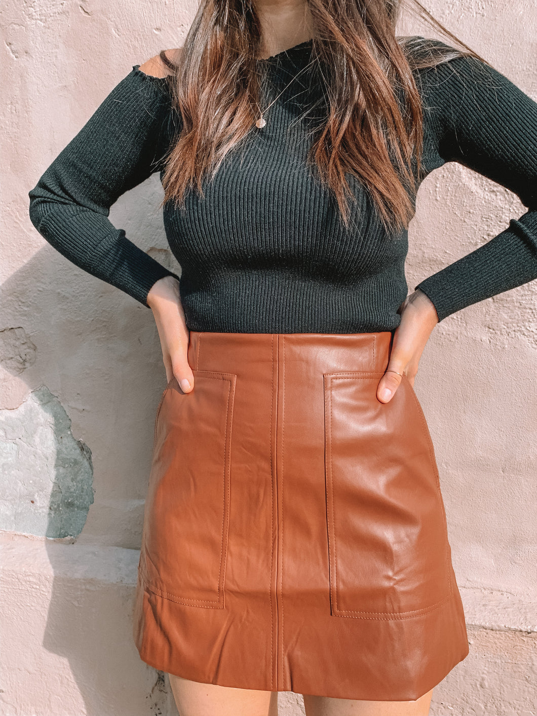 Elke Faux Leather Skirt