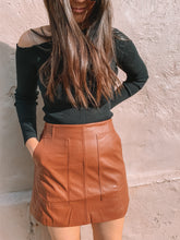 Load image into Gallery viewer, Elke Faux Leather Skirt