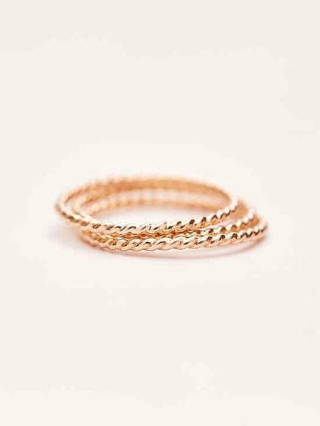 Twisted Stacking Ring - Gold