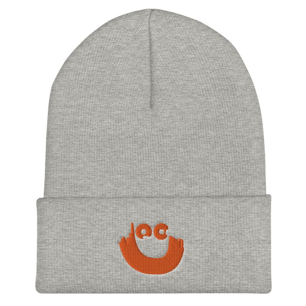 Smiley Cuffed Beanie