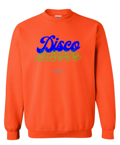 DISCO FELLOWSHIP 2 Crewneck Sweatshirt Orange