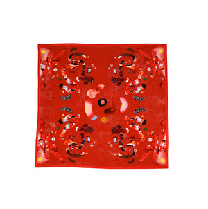 Dragons In Love Silk Pocket Square