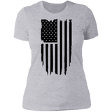 Distressed Flag Ladies' Boyfriend T-Shirt