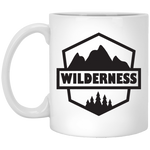 Wilderness Badge Logo 11 oz. White Mug