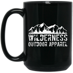 Wilderness 15 oz. Black Mug