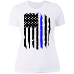 Thin Blue Line Ladies' Boyfriend T-Shirt