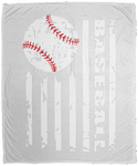 Baseball Flag Cozy Plush Fleece Blanket - 50x60