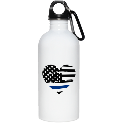 Thin Blue Line 20 oz. Stainless Steel Water Bottle