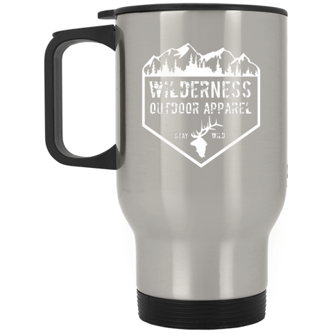 Wilderness Silver Stainless Travel Mug
