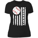 Baseball Flag Ladies' Boyfriend T-Shirt
