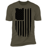 Distressed Flag Short Sleeve T-Shirt