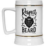 Respect The Beard Beer Stein 22oz.