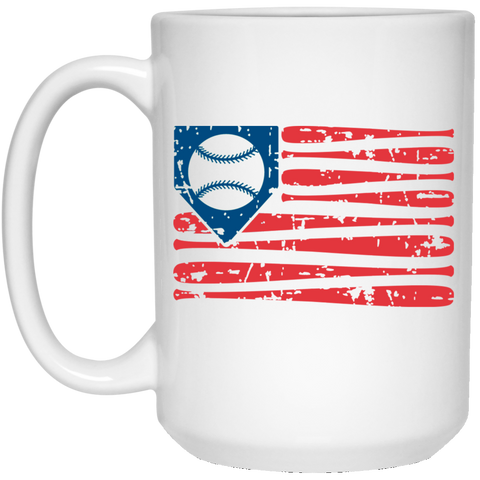Bat Flag 15 oz. White Mug