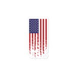 American Flag Bubble-free stickers