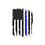 Thin Blue Line Bubble-free stickers