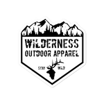Wilderness Badge Bubble-free stickers