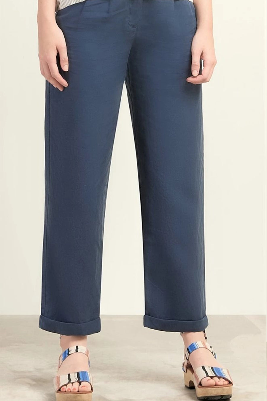 JUNA TENCEL TROUSERS BLUE GREY