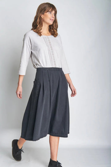KATIE MIDI DENIM SKIRT