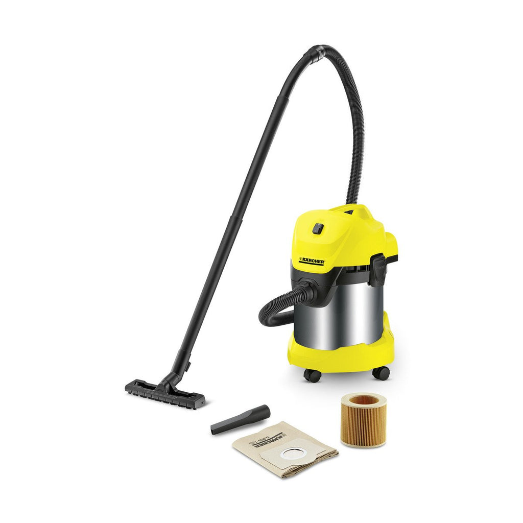 Vacuum Wet And Dry Premium Karcher WD3 1000W = 1400W 17Lt