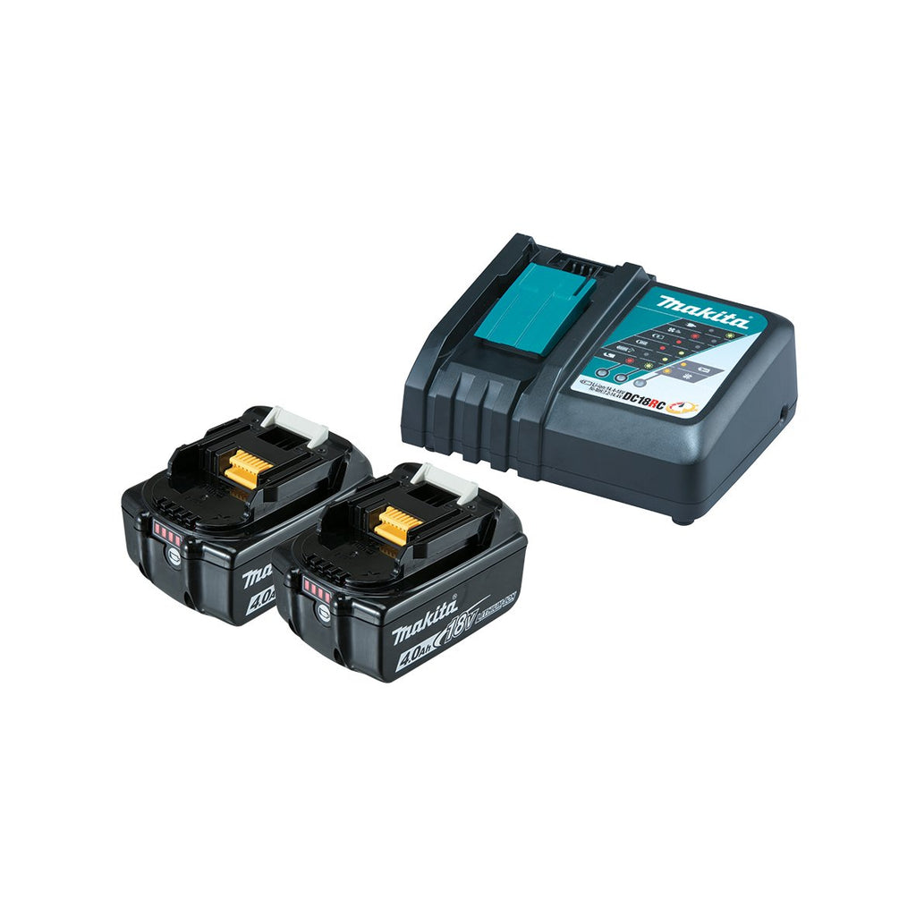 Charger Rapid & 2 X 18V 4.0Ah Battery