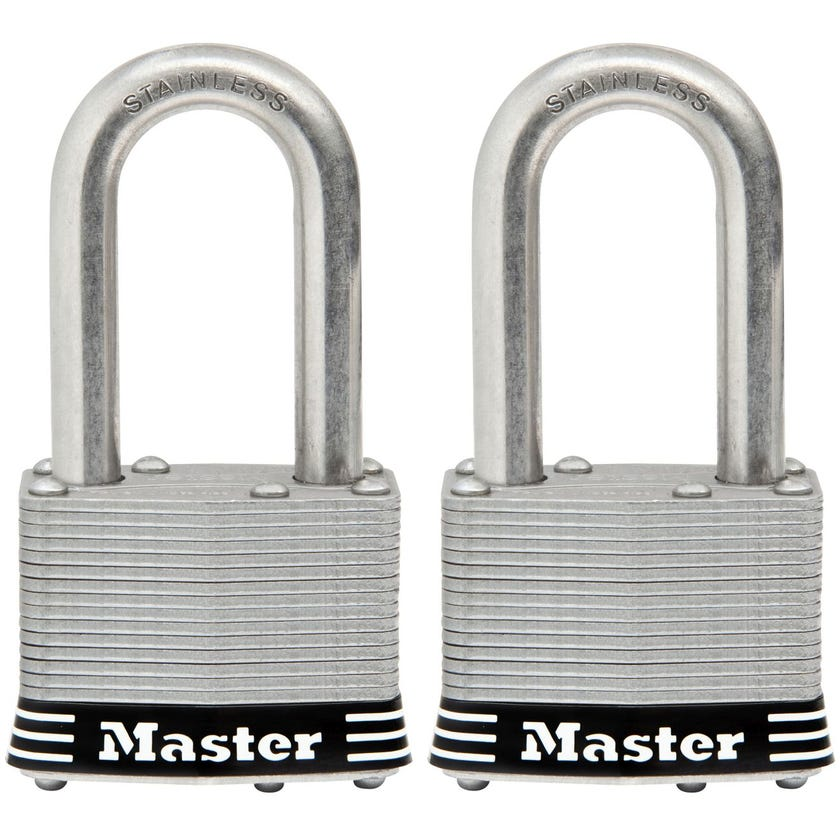 Padlock Stainless Steel Keyed Alike 44mm Pk2
