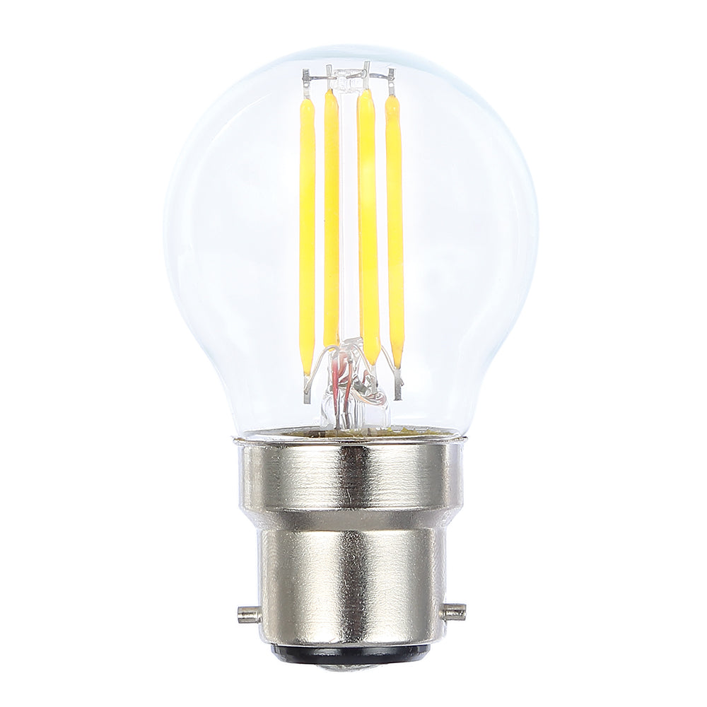 Lusion Lamp LED Fancy Round Dimmable 4W 400lm 6500K BC Clear