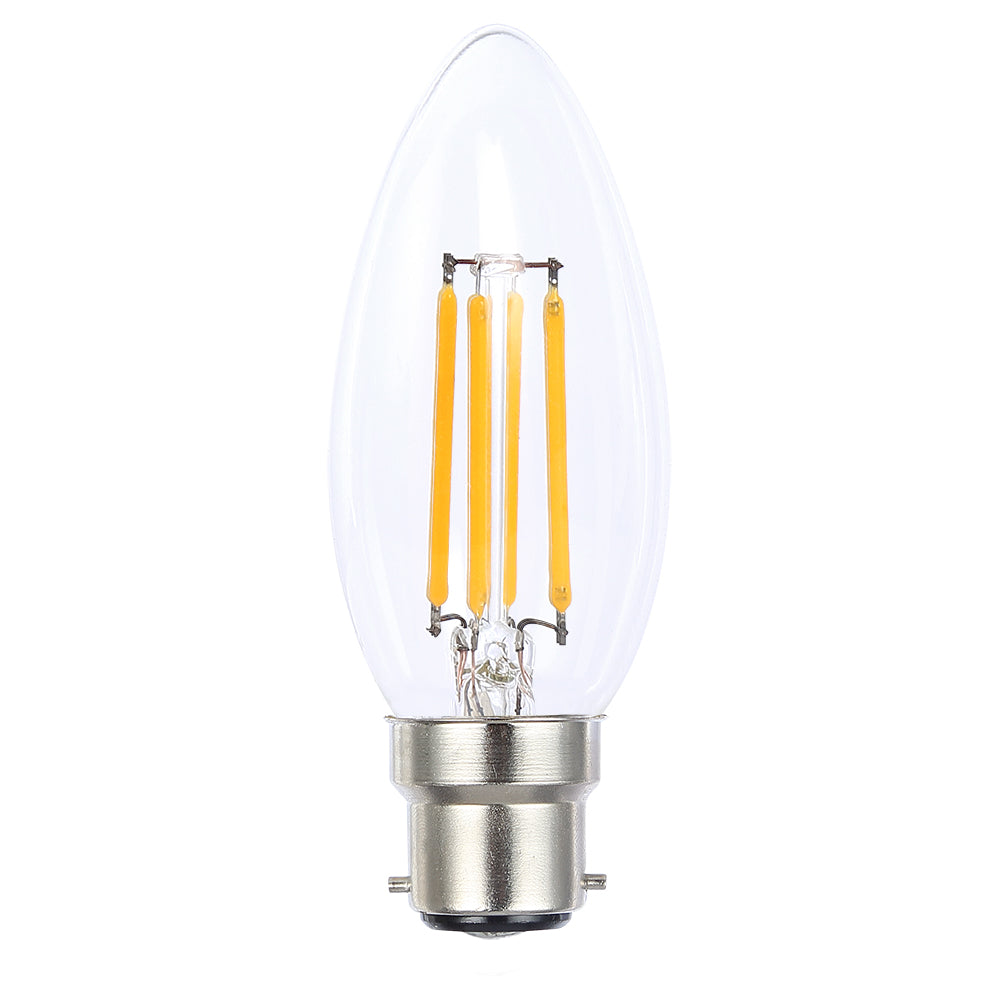 Lusion Lamp LED Candle Dimmable 4W 400lm 2700K BC Clear