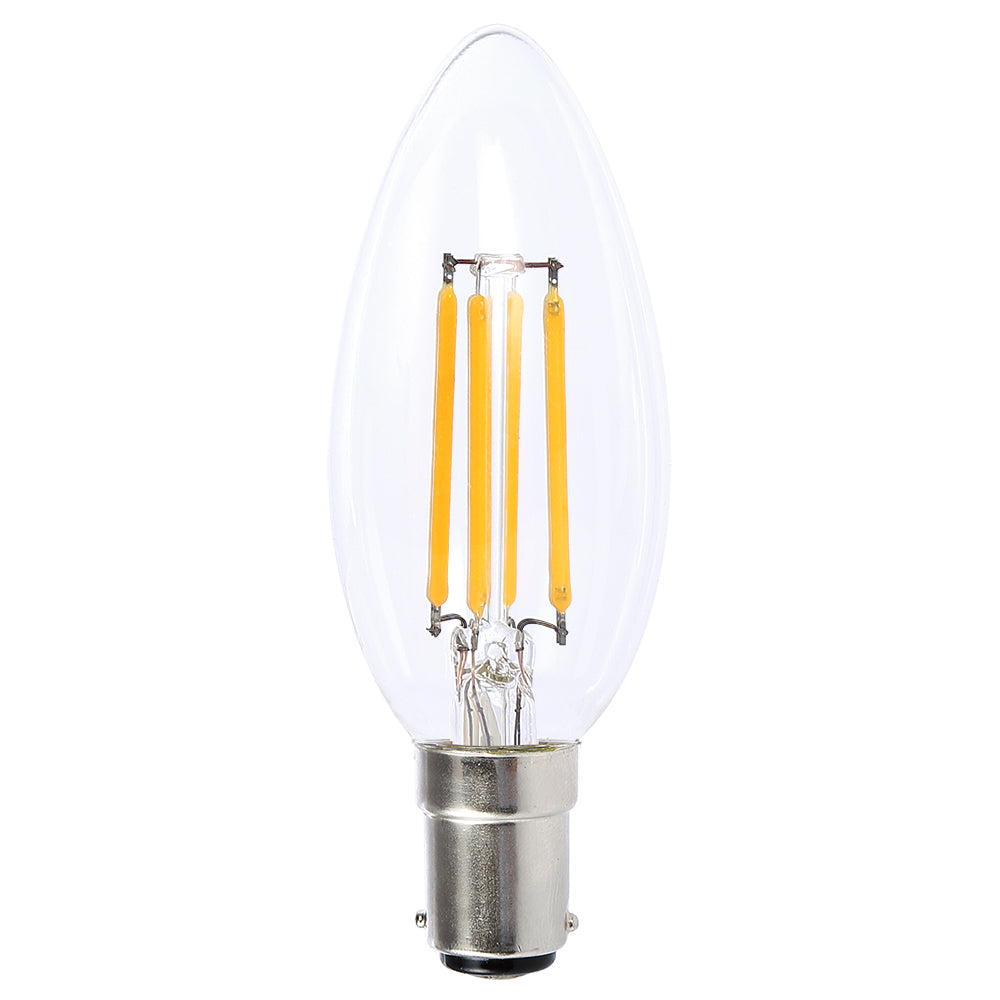 Lusion Lamp LED Candle Dimmable 4W 400lm 2700K SBC Clear