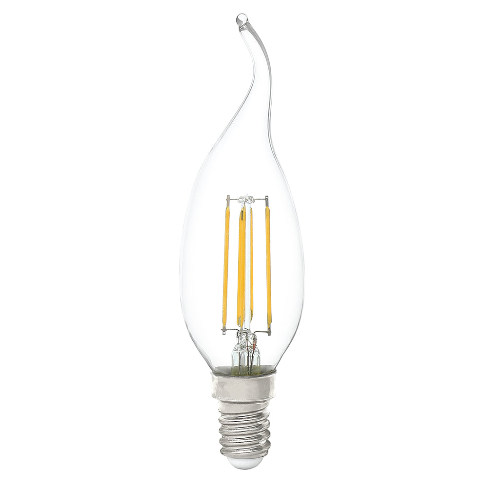 Lusion Lamp LED Candle Flame Dimmable 4W 400lm 2700K SES Clear
