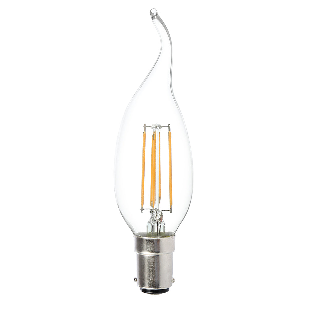 Lusion Lamp LED Candle Flame Dimmable 4W 400lm 2700K SBC Clear