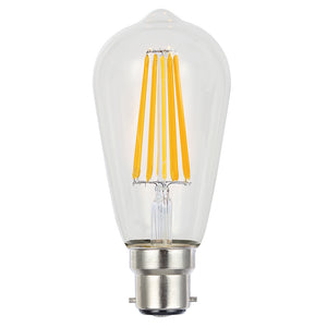 Lusion Lamp LED ST64 Filament Dimmable 8W 700lm 2700K BC Clear