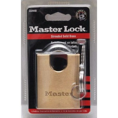 Master Lock Padlock Brass Shrouded Shackle 50mm Pk1