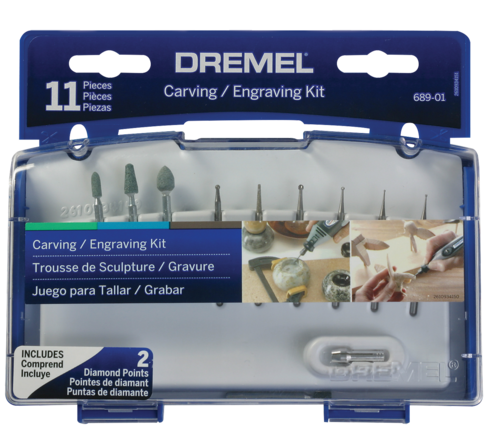 Dremel Mini Accessory Set Carve & Engrave 11Pce