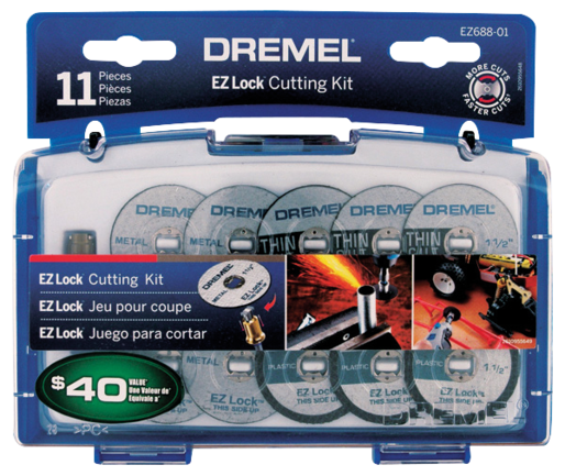 Dremel Mini Accessory Set Ez Lock Cut 11Pce