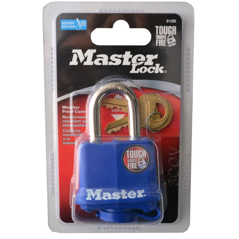 Padlock Laminated Thermoplastic Covered 40mm Pk1