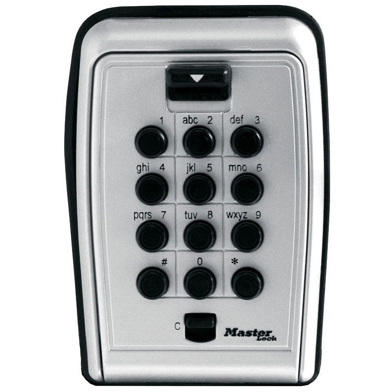 Master Lock Safe Key Wall Mount Push Button