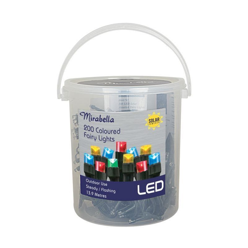 Fairy Light Led Solar Multi Colour 200Pce