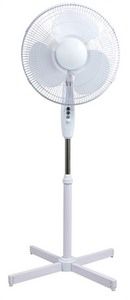 Fan Pedestal White With Remote 40cm