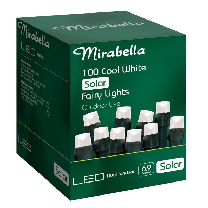 Fairy Light Led Solar White 100Pce